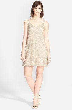 Alice + Olivia 'Kalia' Beaded V-Neck Dress available at #Nordstrom