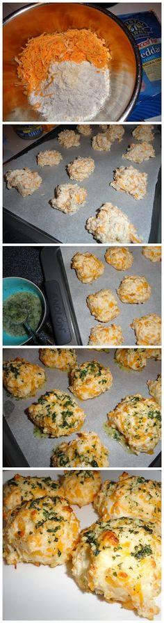 Garlic Cheddar Biscuits - with gluten free Bisquick