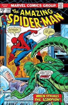 Amazing Spider-Man # 146 by John Romita Marvel Comic books cover Peter Parker web Marvel Comics Superheroes, Marvel Comic Books, Comic Book Heroes, Comic Books Art, Marvel Heroes, Comic Art, Univers Marvel, Amazing Spiderman, Spiderman Classic