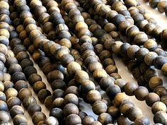 8.5-9mm Tigers Eye Beads, Beautiful Tiger Eye Round Plain Matte Beads, 14 Inch Strand, 1mm Hole Tigers Eye Necklace - ANT7