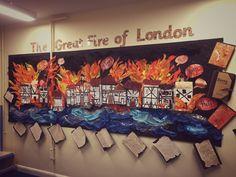 great fire of London gfol history Literacy Display, Teaching Displays, Class Displays, School Displays, Classroom Displays, Classroom Themes, London Activities, History Activities, The Fire Of London