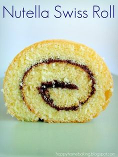 Happy Home Baking: Nutella Swiss Roll Cake Frosting Recipe, Frosting Recipes, No Cook Desserts, Just Desserts, Swiss Roll Cakes, Cake Roll Recipes, Baked Doughnuts, Home Baking, Baking Tips