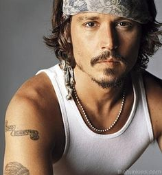 Johnny Depp, bandana and wife beater and he's good to go