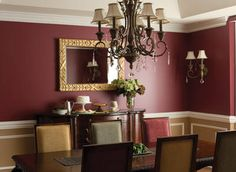 If you decide to have burgundy walls for your house interior walls, here are several ideas for you. First idea, create the right colour contrast for burgundy walls Burgundy Walls, Burgundy Living Room, Living Room Red, Living Room Paint, Living Room Decor, Red Walls, Maroon Walls, Taupe Walls, Dining Room Paint Colors