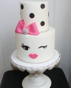 "378 Likes, 30 Comments - Food Network 'Cake Wars' Champ (@kyndomello) on Instagram: ""Kate spade inspired birthday cake for @beautifulstarglam! 28 & fabulous ♡ *Original design via…"""