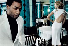 Snapshot: Chiwetel Ejiofor and Kate Moss by Mario Testino for Vogue - The Fashion Bomb Blog : Celebrity Fashion, Fashion News, What To Wear,...