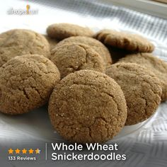 "Whole Wheat Snickerdoodles | ""These are hands down, the best cookie I've ever made. I recommend not touching the recipe at all. you MUST roll the tops in the sugar/cinnamon. OH these are really fantastic. Thanks SO MUCH for this recipe! HUGE HIT!"""