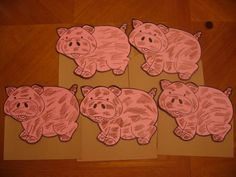 5 Little Pigs Rolled in the Mud