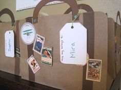 suitcase...make it out of a file folder for the Trip Around The World class