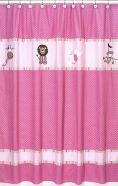 pink and yellow shower curtain. Jojo Designs Shower Curtain  Jungle Friends Pink Curtains Dragonfly Dreams Sweet
