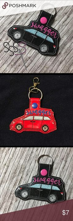 Minivan Swagger Wagon Key Fob Keychain Keychain/key fob made out of vinyl.  Message me for color requests :)  Can get product and shipping cheaper at Etsy.com/shop/SomeSewSewStitchesCo (Link in about) Some Sew Sew Stitches Co Accessories Key & Card Holders