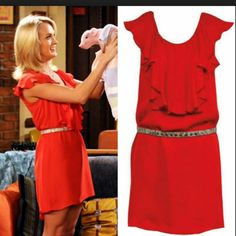 Sexy red dress. Silk material. Wore once. Very cute yet comfortable.  As seen on Carrie Underwood on How I Met Your Mother. Dresses