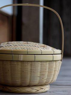 伝統と匠の飯籠(網代蓋) 竹かご 飯びつ 飯櫃 おひつ bamboo 竹製品 虎斑竹専門店 竹虎