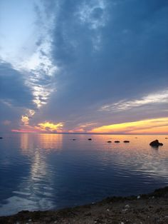 Sweden, Gotland and a beautiful sunset.