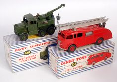 Lot 2065 - Dinky Toys, boxed playworn diecast group to include; 955 fire engine with extending ladder