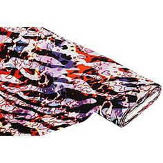 """Tissu viscose """"Spring Fire"""", multicolore   acheter en ligne sur buttinette - loisirs créatifs"""