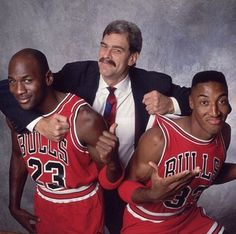 Photo: MJ,Phil Jackson and Pip.