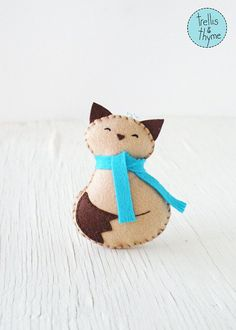 PDF Pattern - Cozy Kitty, Winter Felt Ornament Pattern, Christmas Ornament…