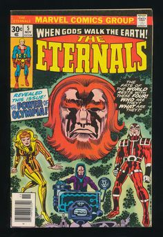 Lot Of 3 Eternals Marvel Comic Books # 5 6 7 Jack Kirby Art Series Bronze A Marvel Comics Art, Marvel Comic Books, Comic Book Heroes, Marvel Characters, Comic Books Art, Comic Art, Book Art, Marvel Vs, Comic Book Pages