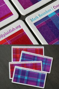 Matt Saunder's Business Card  Love the letterpress look and feel, tactile is good, good paper is good!