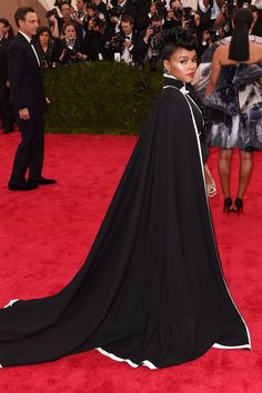 Janelle Monae The singer rocked a dramatic black cape and dress she co-designed with H&M and Nicholas Kirkwood heels.
