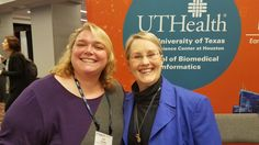 We're big fans of these two. SBMI faculty members Amy Franklin & @SusanHFenton. #AMIA2016