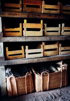 Well would you look at that! Crates *and* baskets... Two of my favourites in one place :)