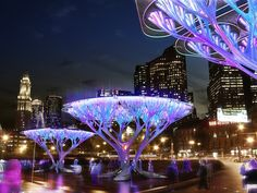 Cool Concept: CO2 to O2 Converting Trees, without soil or water - from My Modern Metropolis