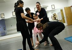 Art therapy ballet for physically disabled children