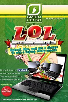 Green Mango Restaurant's Laptop of Loyalty (LOL) Promo