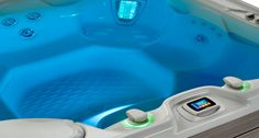 The Magnificent Grandee NXT - a futuristic high-end luxury Hot Tub - from HotSpring - entire range re-designed in 2014 with input from BMW!  - #hotspringsouthcoast