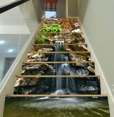 3D Rocks And Stream Stair Risers Decoration Photo Mural Vinyl Decal Wallpaper AU