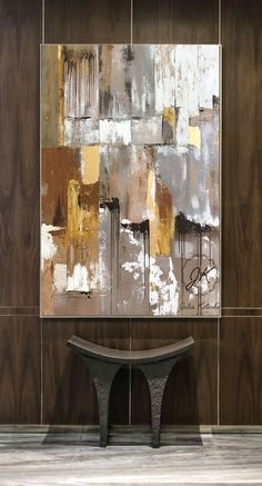 Gold Leaf Abstract Painting on Canvas, Large Wall Art, Textured Art, Large Canvas Art, Original Abstract Painting by Julia Kotenko Large Canvas Art, Large Wall Art, Abstract Canvas, Textured Canvas Art, Bild Gold, Texture Painting On Canvas, Modern Art Paintings, Arte Popular, Texture Art