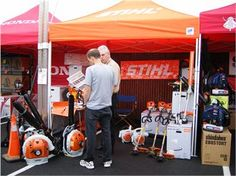 #Stihl Factory Rep was on-hand at the #Gardenland Power Equipment sale