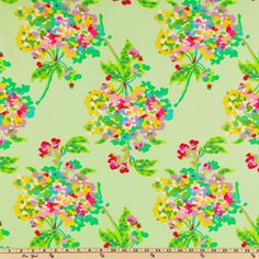 Amy Butler Love Water Bouquet Mint - Discount Designer Fabric - Fabric.com
