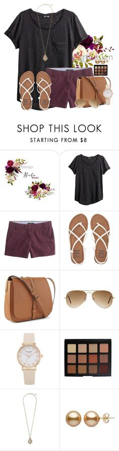 """""""~Im loving it~"""" by victoriaann34 ❤ liked on Polyvore featuring H&M, J.Crew, Billabong, Gap, Ray-Ban, Morphe and Kendra Scott"""