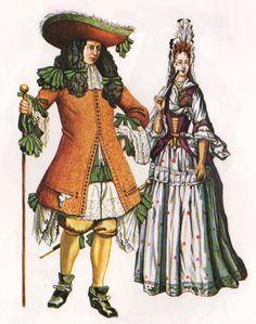 1690's Man & Woman.