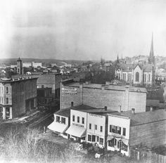 Monroe (Ctr.) & Division, looking north toward Michigan St. - c. 1880s