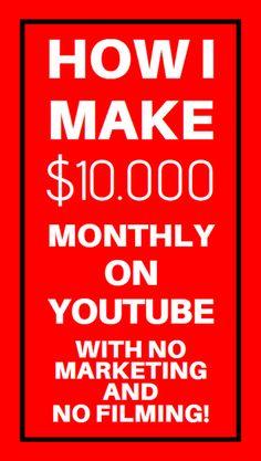Make Money With Online Video Marketing Get Money Online, Money Today, Online Jobs, Youtube Secrets, Youtube Hacks, Make Money From Home, Way To Make Money, Internet Marketing, Online Marketing