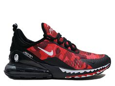 a430dae30a2 Coussin Dair Officiel Nike Air Max 270 Midnight Chaussures Sportswear Homme  Crocodile Grand rouge noir AH6799