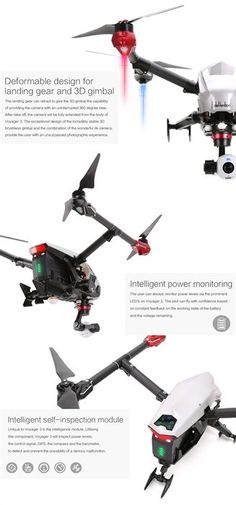 www.HobbyFlip.com - Walkera Voyager 3 Drone FPV Devo F12E 4K Quadcopter HD GPS #DronesTechnology