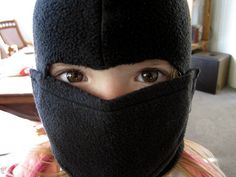 Super Easy Fleece Ninja Mask