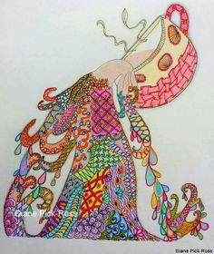 """""""Psychedelic Spill"""" by Diane Pick-Ross"""
