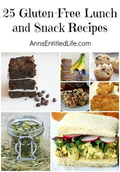 25 Gluten-Free Lunch and Snack Recipes; Gluten-free lunch recipes and snack recipes to eat at home, school, office or on the road. Eating gluten-free doesn't have to be a chore, especially when it comes to lunchtime.
