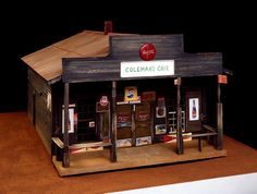 William Christenberry  b. Tuscaloosa, AL, 1936; lives and works in Washington, D.C.  Coleman's Cafe (I)  1982  mixed media, painted wood, and clay soil  18 3/8 x 25 3/4 x 36 1/2 in. (47 x 65.4 x 92.7 cm)