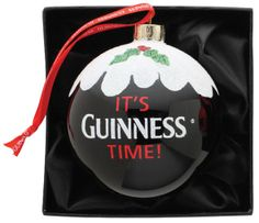 Guinness Pint Christmas Glass Bauble