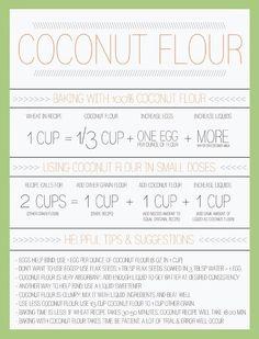 Healthy coconut flour substitute for regular flour