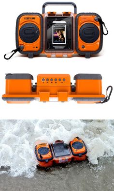 Rugged and Waterproof Stereo Boombox for iphone