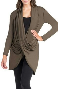 Beautiful crossover tunic for maternity.