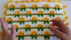 Crochet Chart, Crochet Stitches, Knit Crochet, Crochet Videos, Crochet Flowers, Diy And Crafts, Knitting, Pattern, Crocheting Patterns